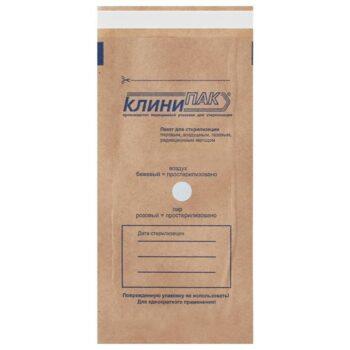 Пакет плоский бумажный корич.  самозаклеивающийся КлиниПак 100 шт/уп