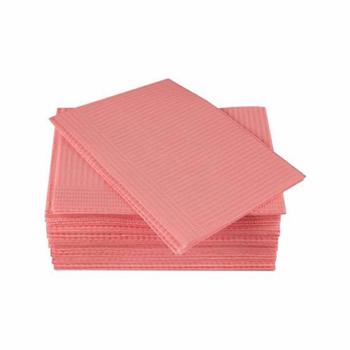 Салфетки стоматологические ламин. Standart 33*45 (бумага+полиэт) розовые №500
