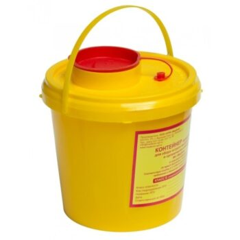 Емкость-контейнер для сбора остроо инструментария 1 л. Класс Б