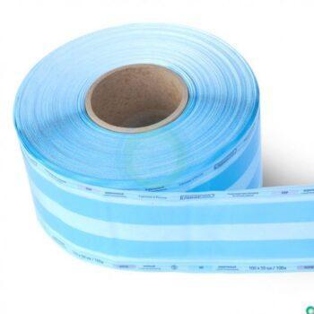 Пакетплоский комбинированный (бумага/пленка) Клинипак рулон