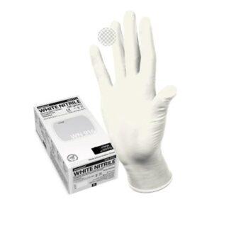 Перчатки нитриловые MANUAL WN916 смотровые, нестерильные, белые