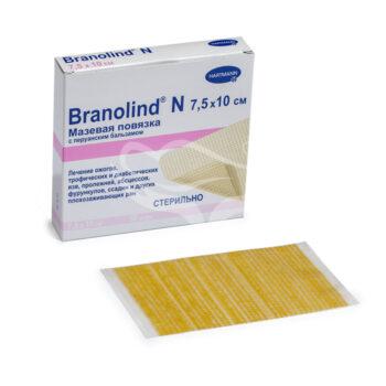 Повязка BRANOLIND N мазевая стерильная 7,5*10 см.