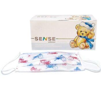 Маска трехслойная на резинке детская СЕНС