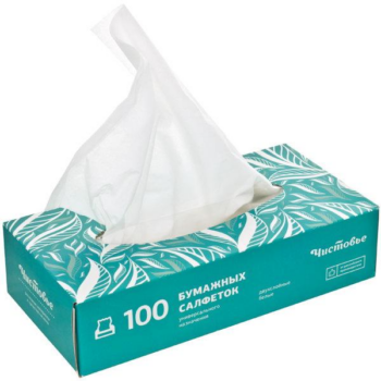 Салфетки бумажные вытяжные 2-х слойные 100 шт